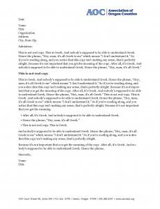 letterhead templates how for AOC