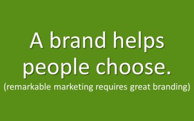 Marketing Mistake #1 – My logo is mybrand