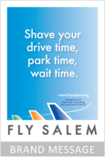 Brand messaging fly salem