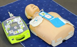 AED dummy. Train with Optimum First Aid - Defibrillator courses (AED) available from Optimum First Aid