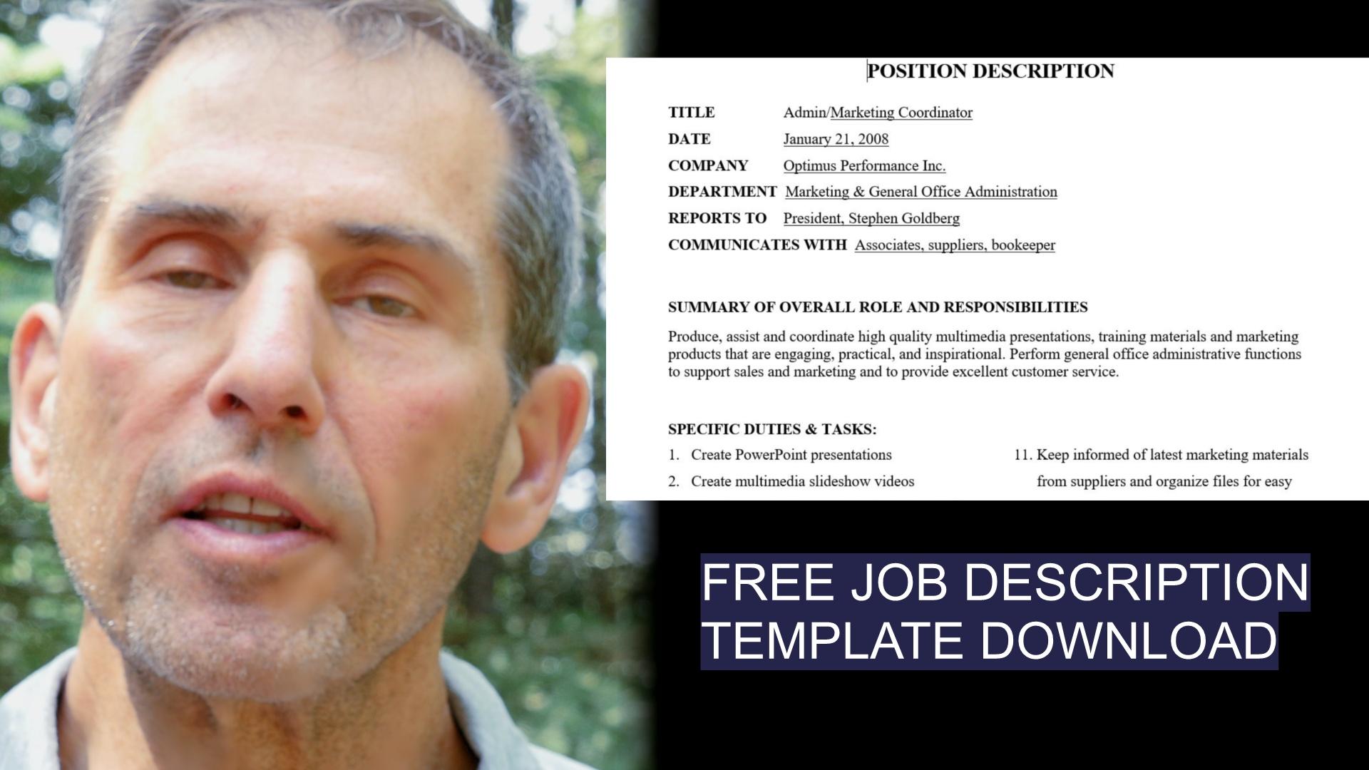 Job Description Template Form Updated