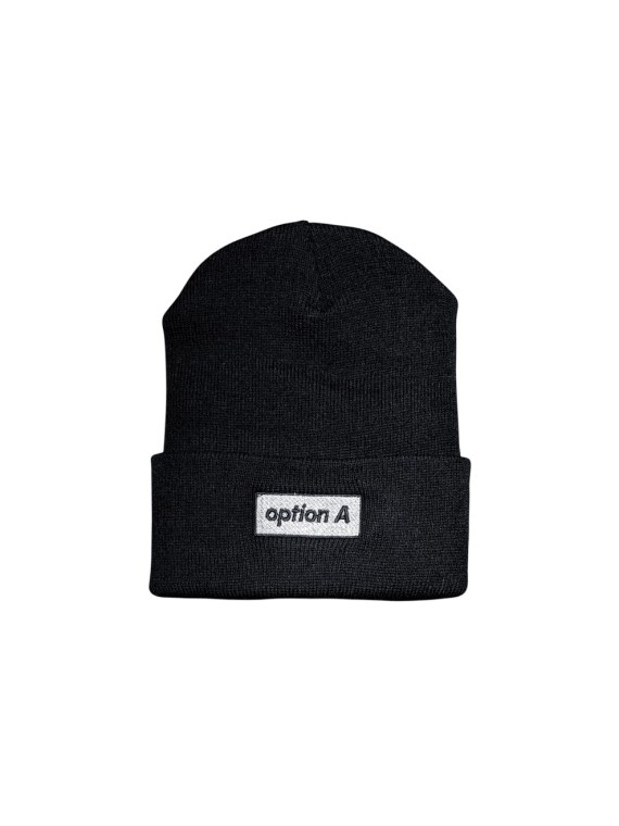 option-a-nyc-beanie-option_a_box_logo-black-front