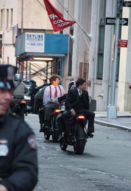 Christian Bale on motorcycle in The Dark Knight Rises