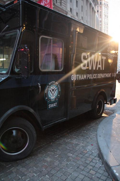 SWAT van in The Dark Knight Rises