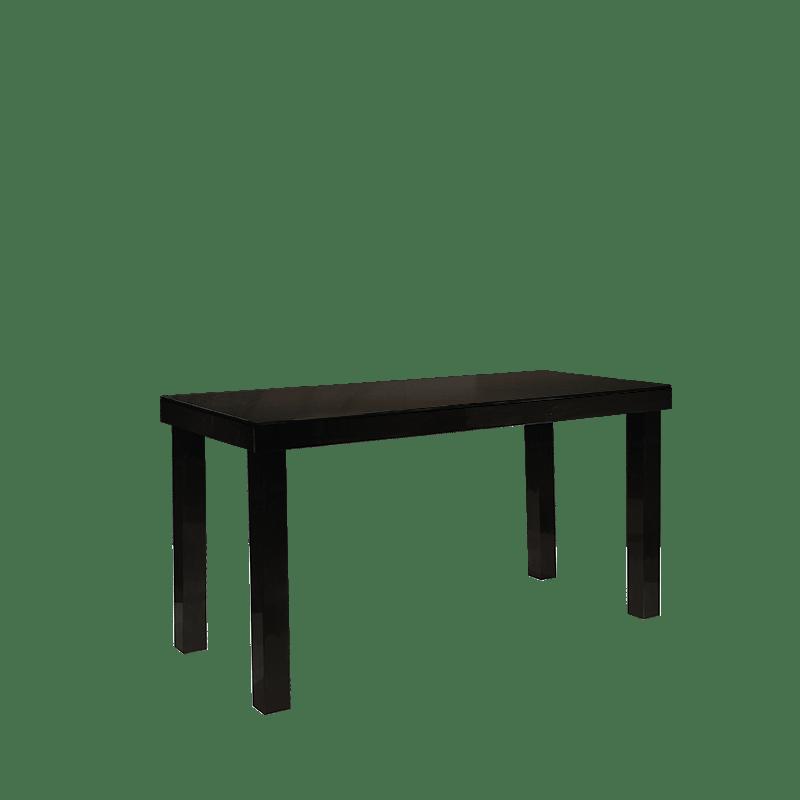 table haute laquee noire 90 x 200 cm h 106 cm
