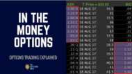 What are in the money options?
