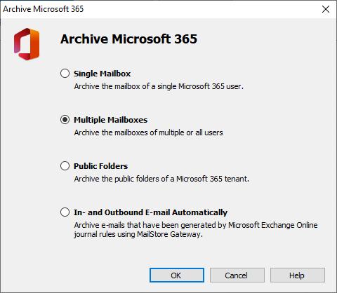 Screenshot Archiving Profile for Microsoft 365 (Exchange Server Online)