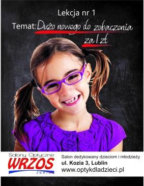 optyk dzieci promocja wrzos kozia salon młodzież lublin nowe okulary soczewki