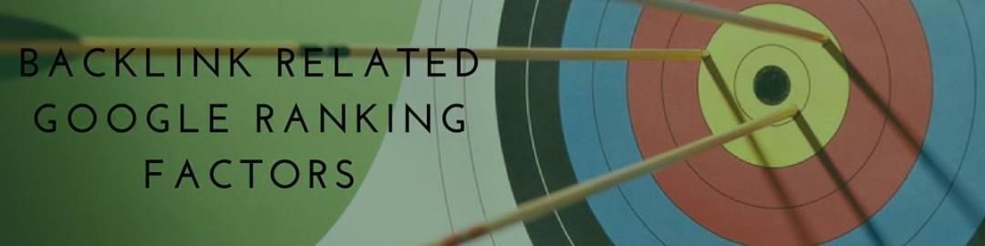 Backlink Related Google Ranking Factors
