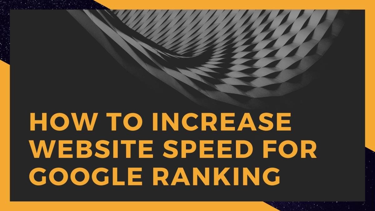 How to Increase Website Speed for Google Ranking