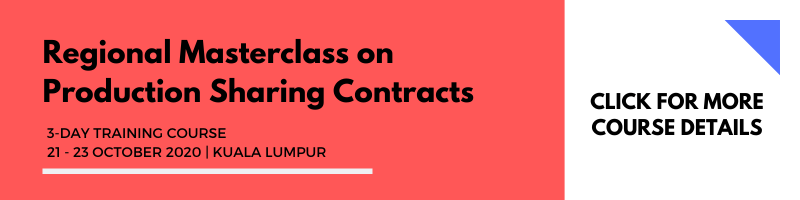 Regional Masterclass on Production Sharing Contracts 21-23 Oct 2020 KL