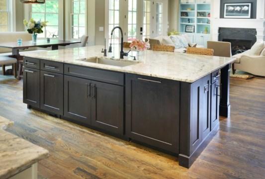 Sole Design Cabinetry. Jamestown door style, rustic alder wood, stained Espresso.