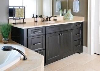 Kabinart Cabinets. Wakefield door style. Aged Ebony.