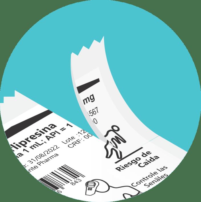 Sistema abre-fácil en el embalaje de unidosis