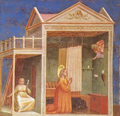 GIOTTO di Bondone (1267-1337)- Annunciazione a Sant'Anna - Cappella Scrovegni, Padova