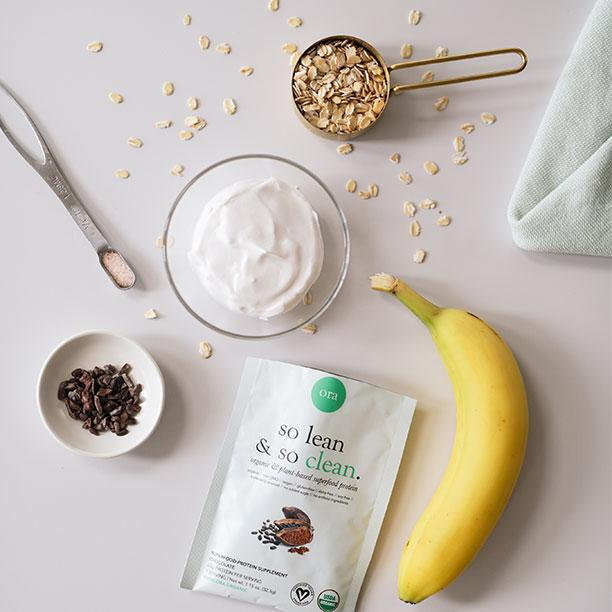 Smoothie Ingredients with Banana