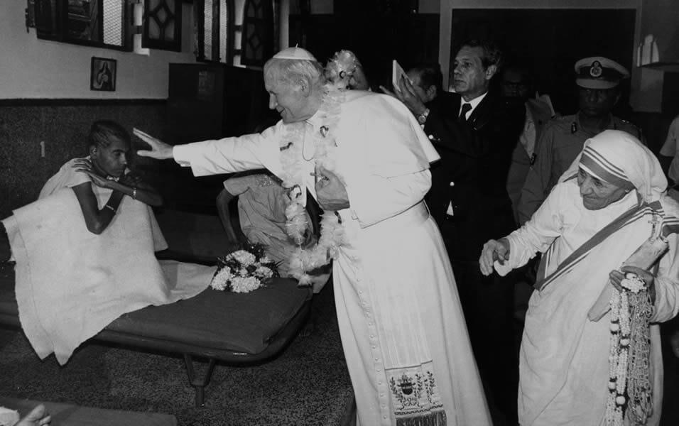 Madre Teresa e o Papa