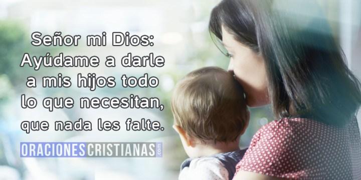 Oración de una madre soltera por sus hijos