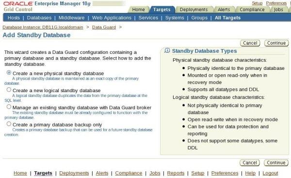 Add Standby Database