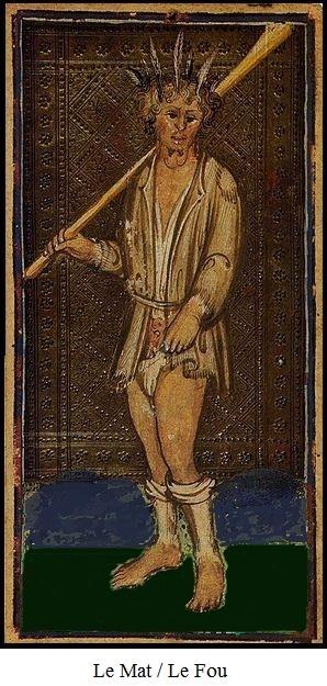 Une carte du tarot Visconti