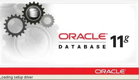 Oracle database 11g install starts