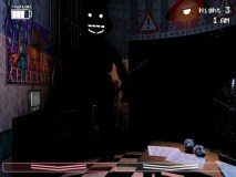 Shadow Bonnie seen before the game crashes.