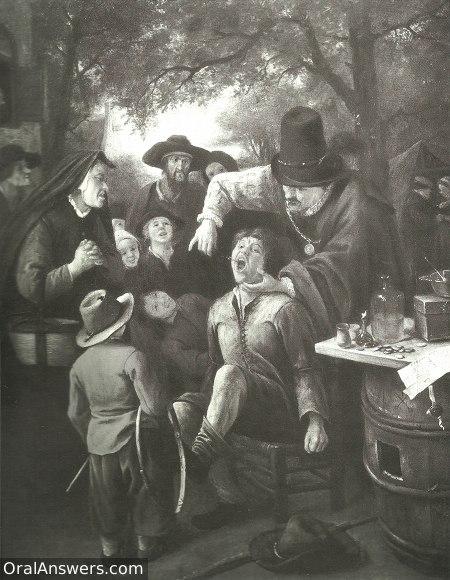 Traveling Dentist in Dutch Village - Dental History