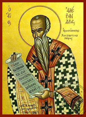 Saint Alexander Of Constantinople Hand Painted Icon