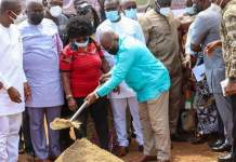 President Akufo-Addo has cut sod for work to begin on the facilities for the 13th edition of the African Games scheduled for 2023 in Accra.