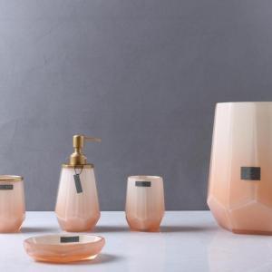 malibu-pink-طقم-اكسسوار-حمام-5-قطع