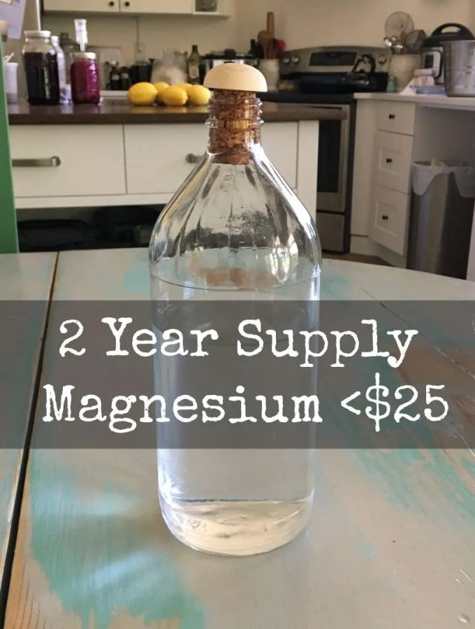Make Your Own Two Year Supply Of Magnesium for < 25$