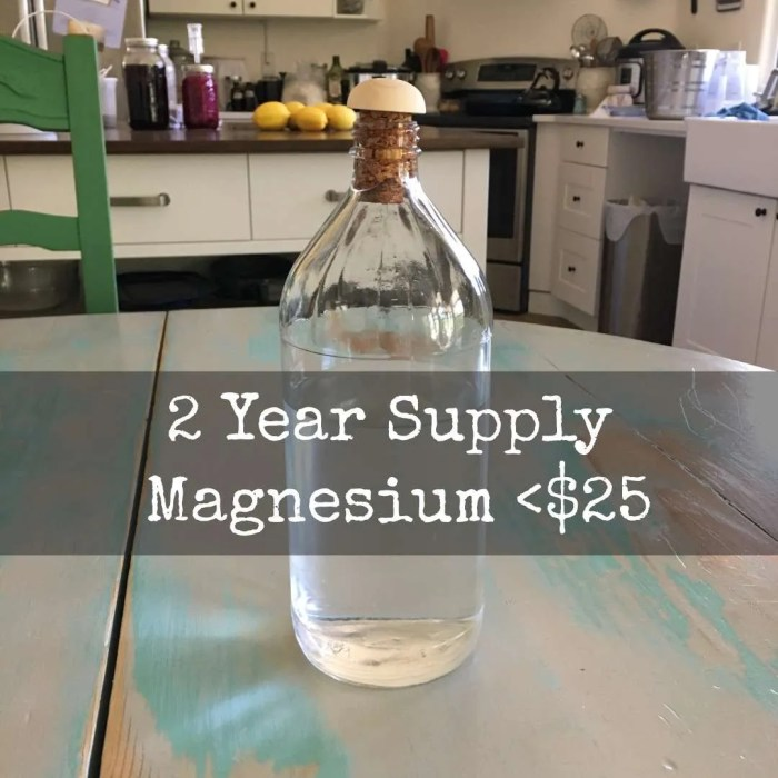 Bottle of magnesium chloride