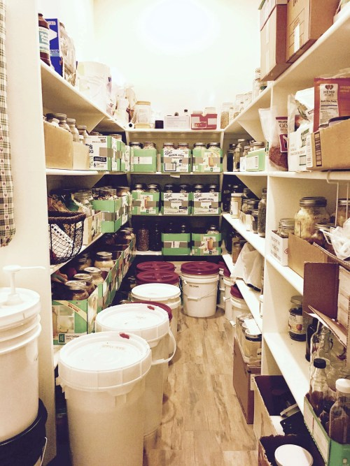 big pantry full of food