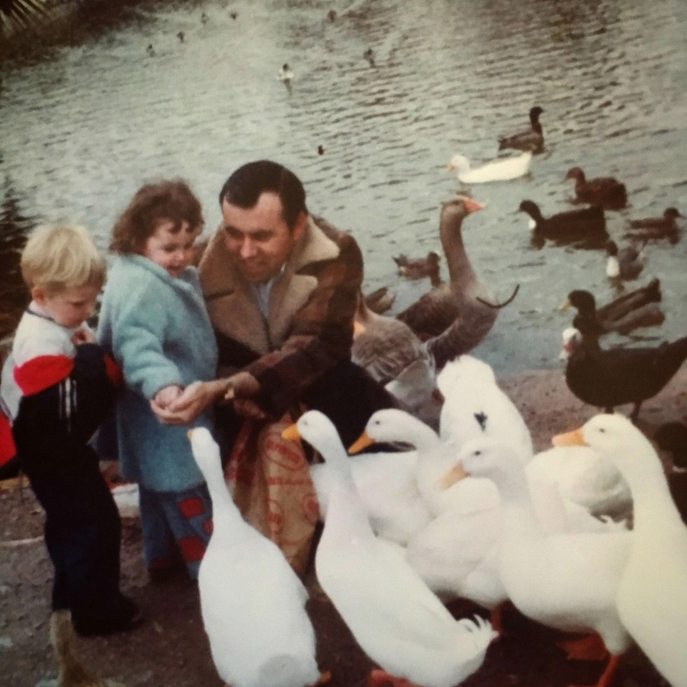 my dad teaching me to love geese {1977}