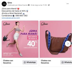 publicidad carrusel de mensajes en fb