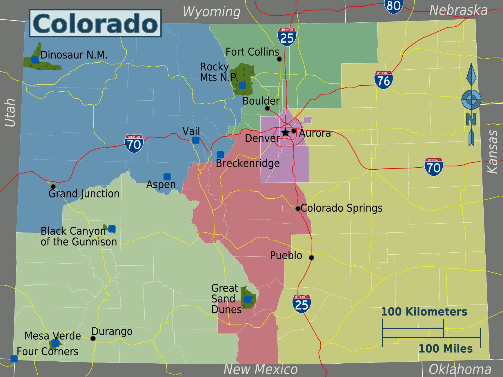 Large Colorado Maps for Free Download and Print   High Resolution     Large map of Colorado 1