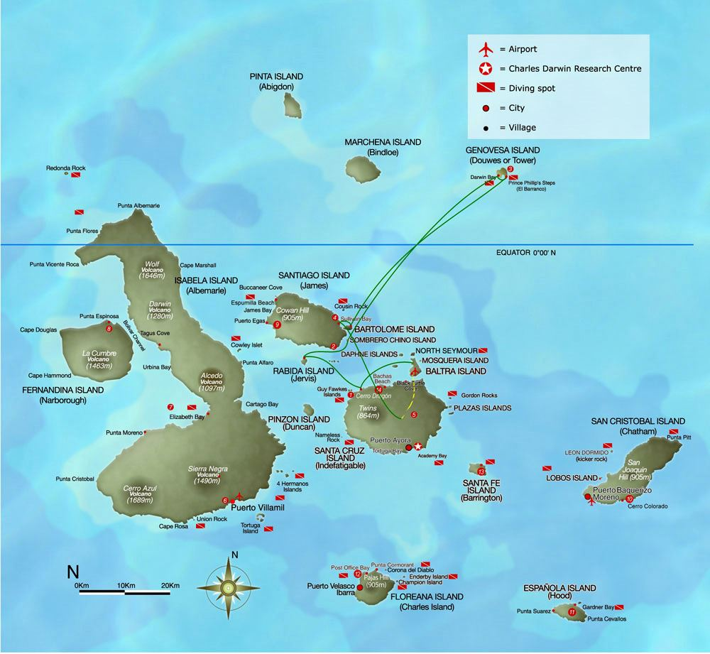 Image result for map of galapagos