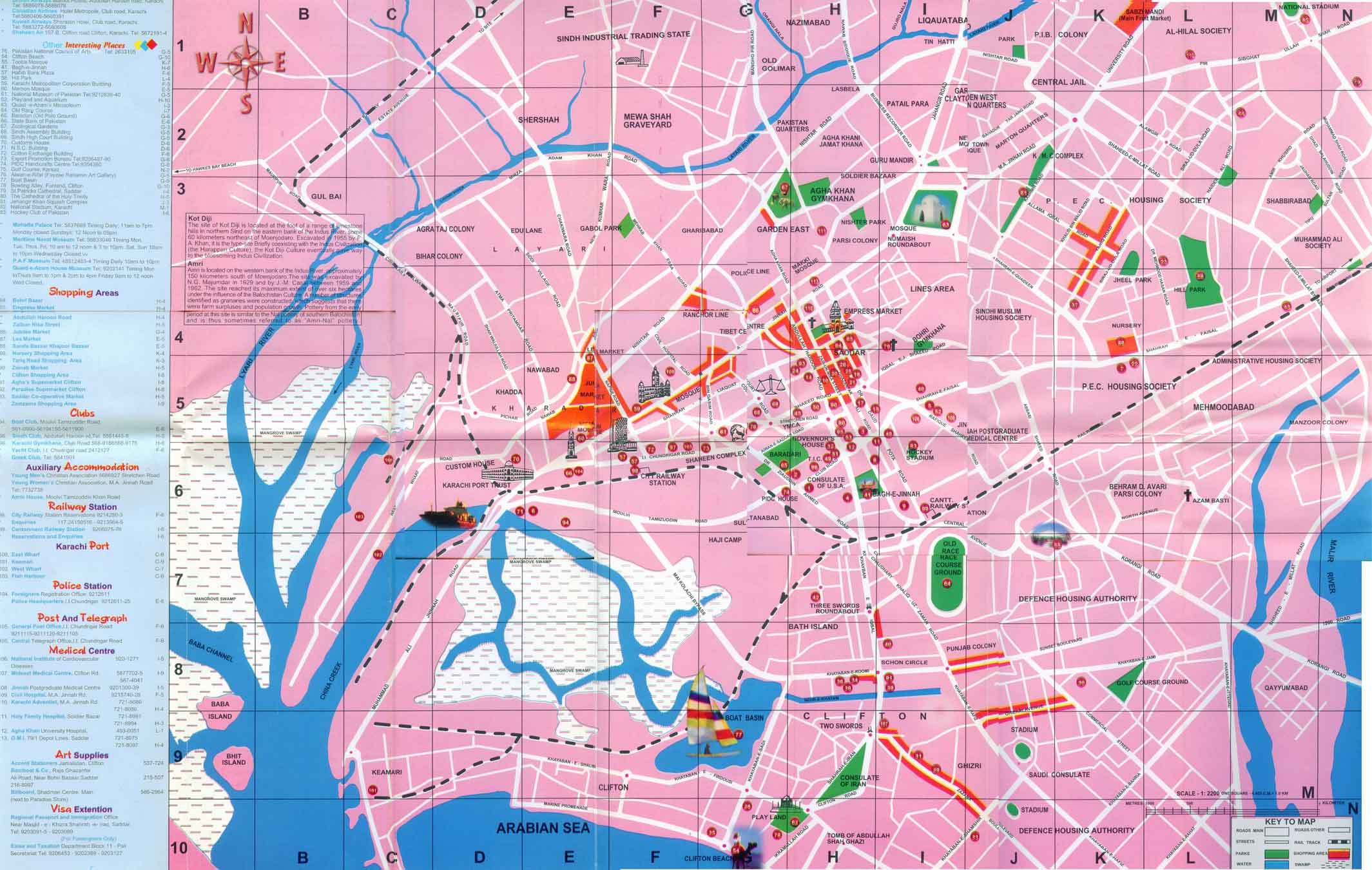 Large Karachi Maps for Free Download and Print   High Resolution and     Large map of Karachi 1