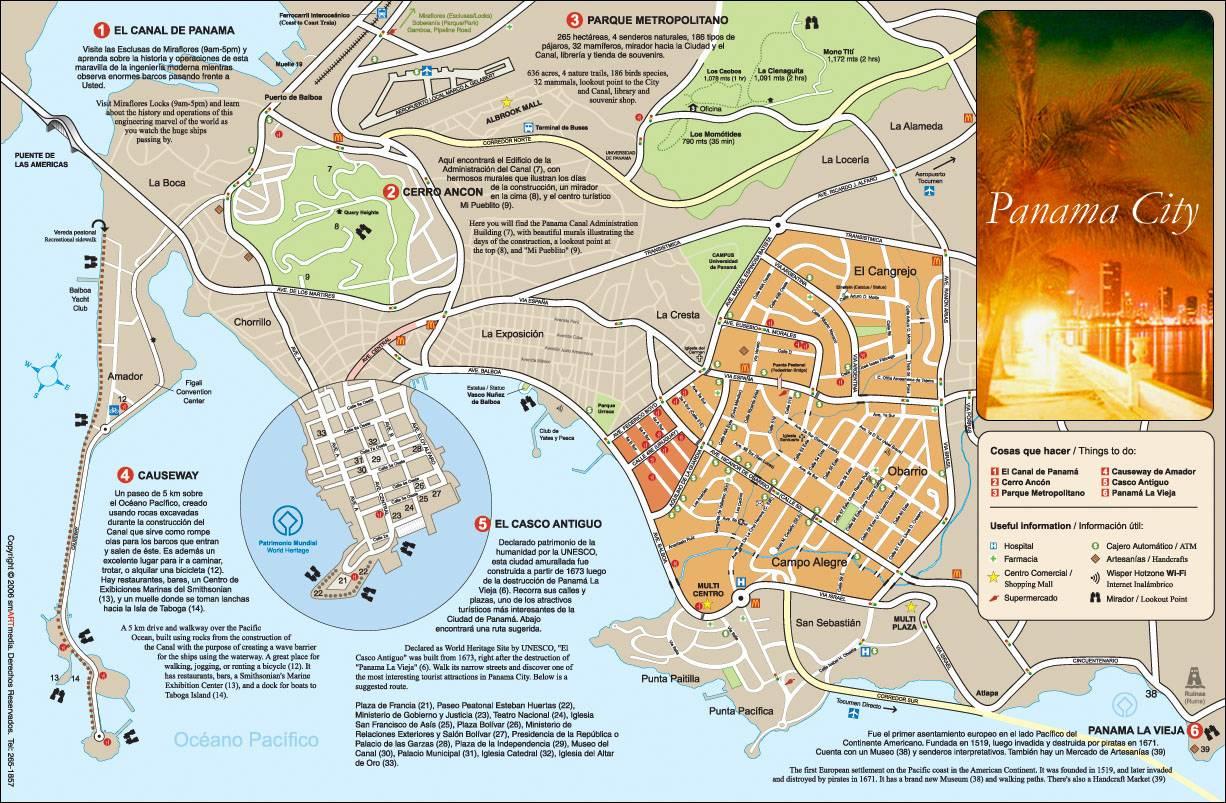 Stadtplan Von Panama Stadt