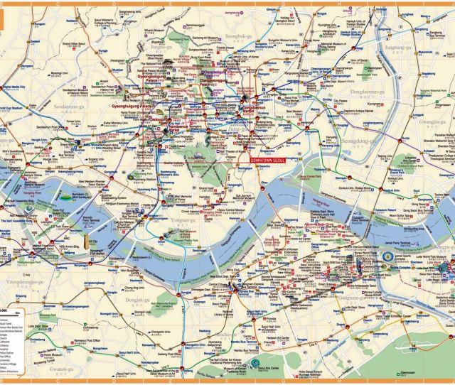 Large Map Of Seoul