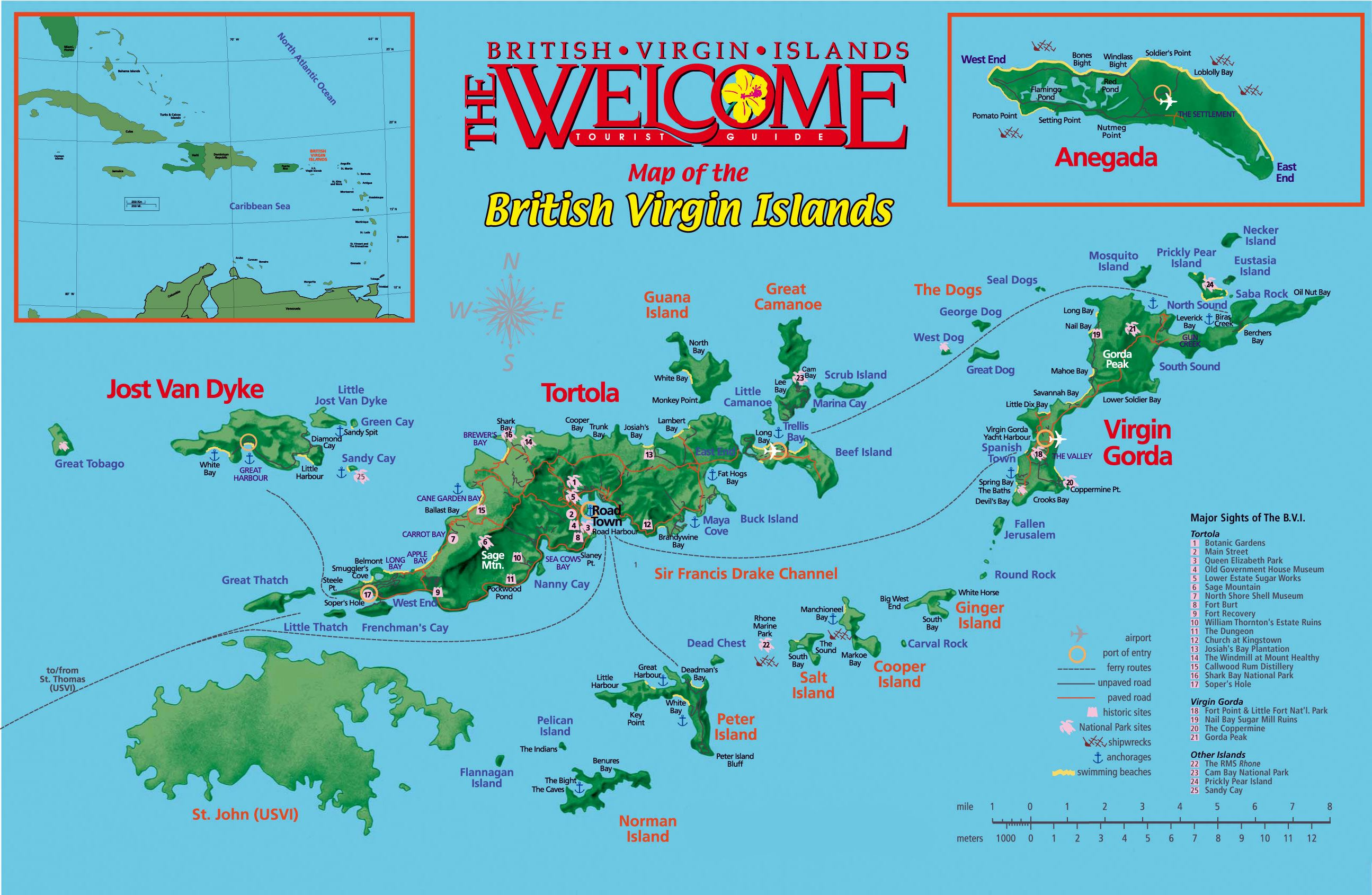 Large Tortola Maps For Free Download And Print