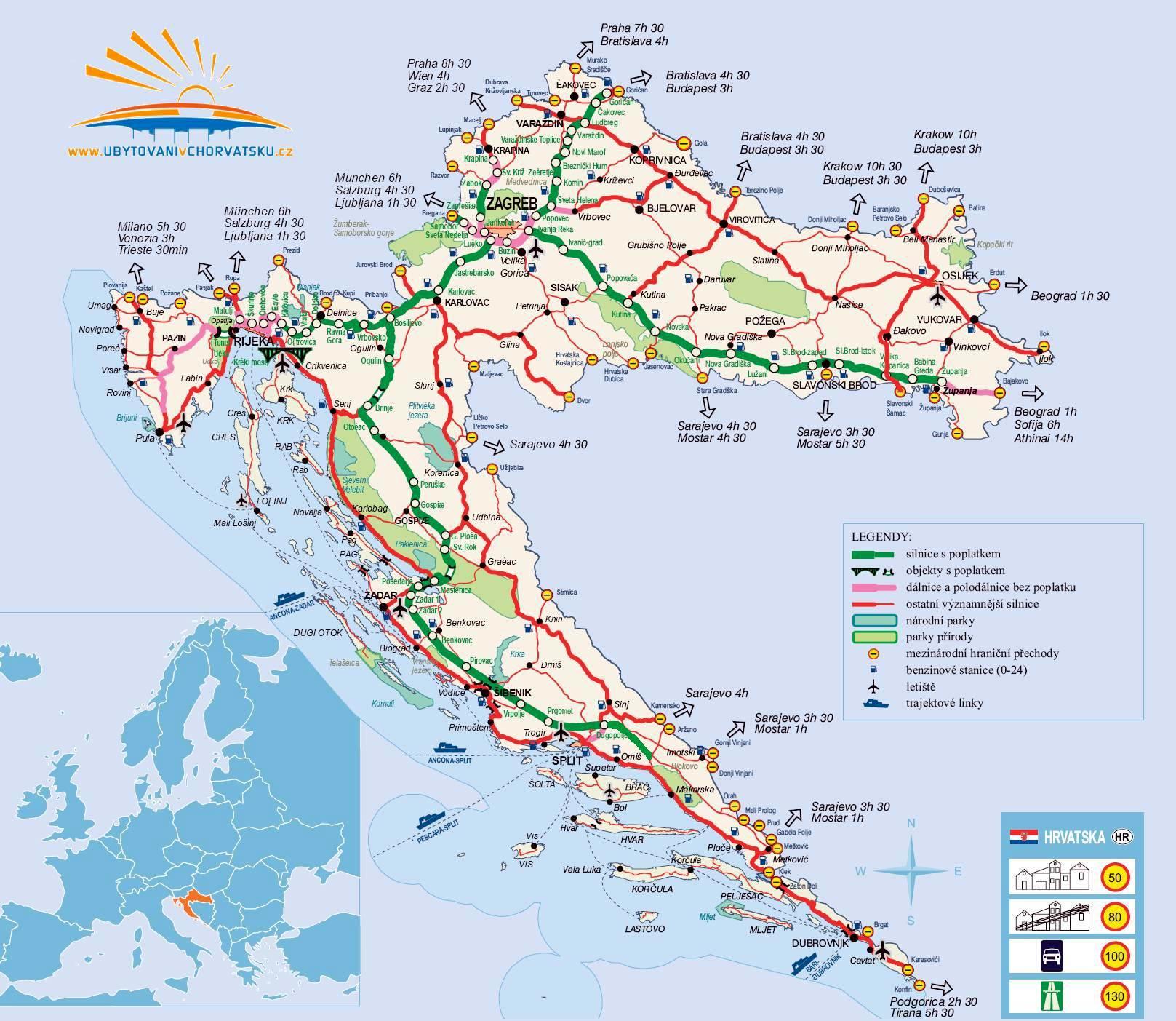 Resultado de imagen de mapa croacia