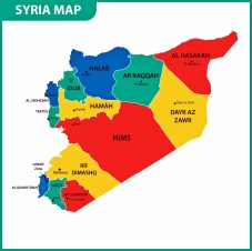 Syria Map of Regions and Provinces - OrangeSmile.com
