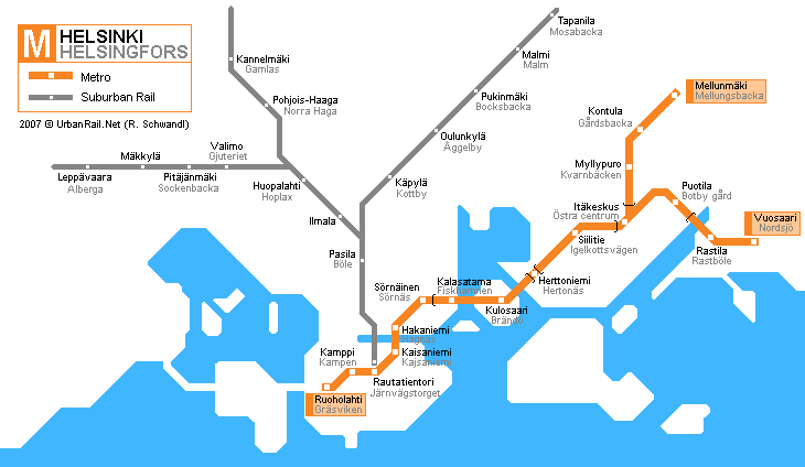Image result for helsinki metro map