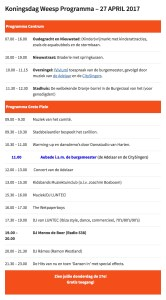 Koningsdagprogramma Weesp 2017