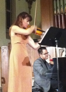 Denise Dillenbeck and Nikolas Caoile performed at Portland's Old Church.