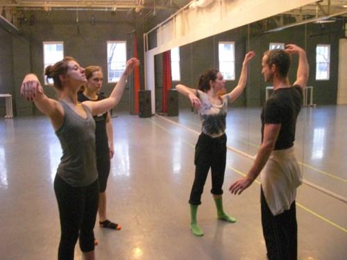 Eric Skinner rehearses his new piece for BodyVox-2./BodyVox