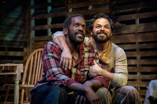 """Don Kenneth Mason, Ben Newman in """"Blood Knot."""" Photo: Jamie Bosworth"""
