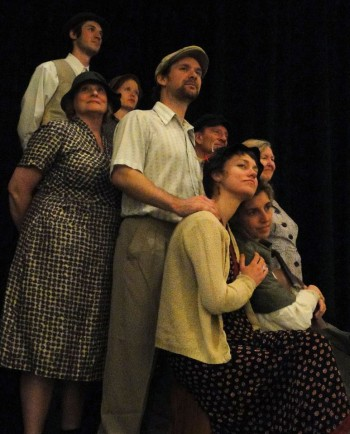 "Down but not quite out: the cast of ""Hard Times."" Photo: Sowelu Theater."