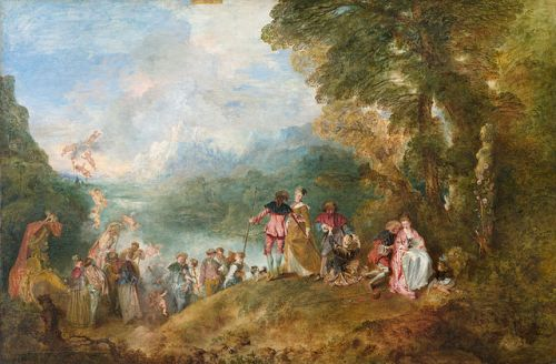Debussy's inspiration: L'Embarquement pour Cythere, by Antoine Watteau